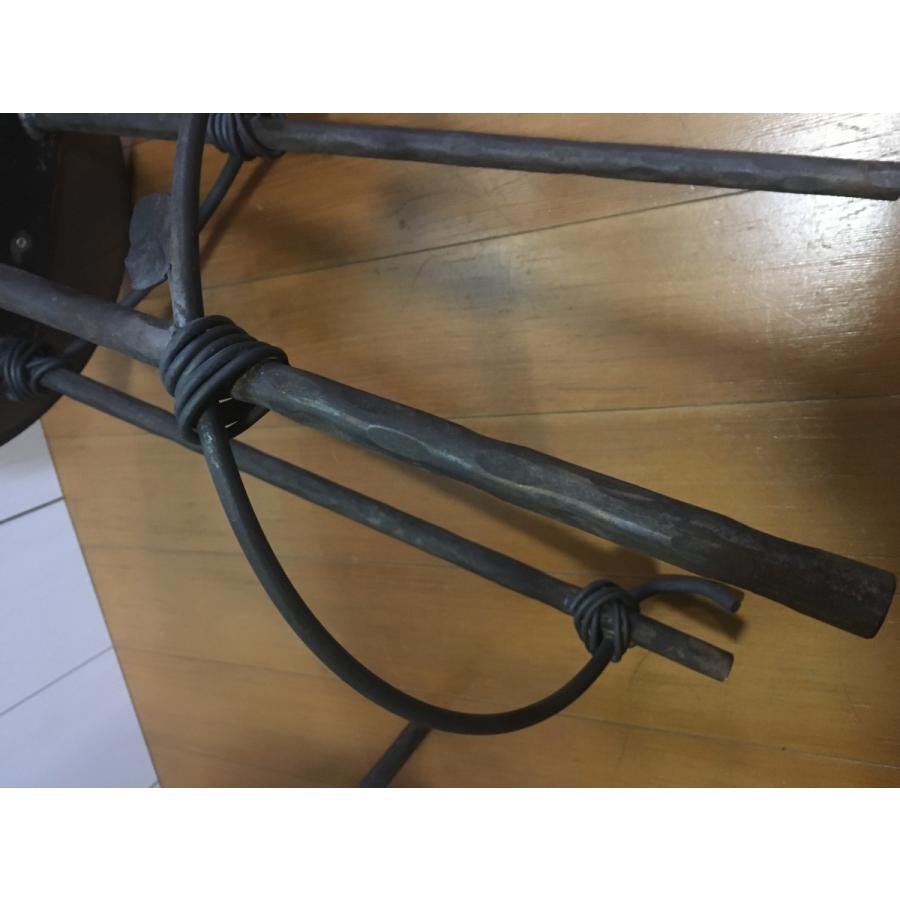 アイアン  サイドテーブル サイドボード チェア風 (背もたれ有り)丸型|zacc|04