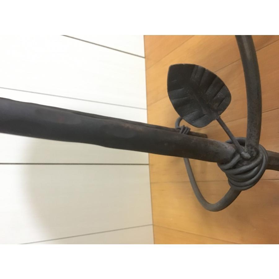 アイアン  サイドテーブル サイドボード チェア風 (背もたれ有り)丸型|zacc|05