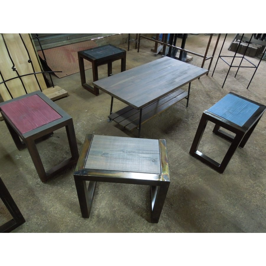 アイアンスツール 椅子 ミニテーブル サイドテーブル ヴィンテージ仕上げ 高40×幅44×奥行28.5 サイズオーダーOK。|zacc|02