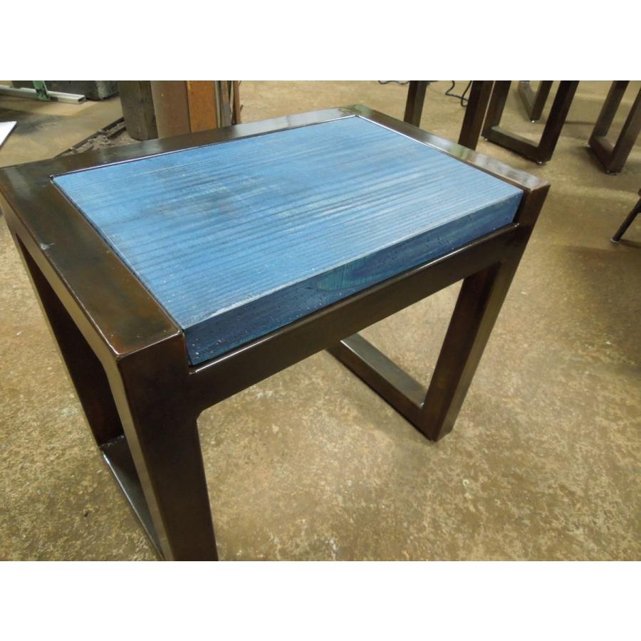 アイアンスツール 椅子 ミニテーブル サイドテーブル ヴィンテージ仕上げ 高40×幅44×奥行28.5 サイズオーダーOK。|zacc|03