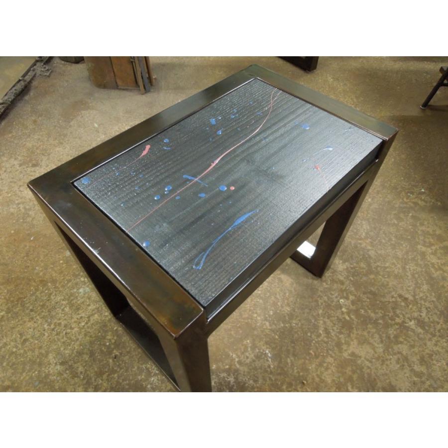 アイアンスツール 椅子 ミニテーブル サイドテーブル ヴィンテージ仕上げ 高40×幅44×奥行28.5 サイズオーダーOK。|zacc|04