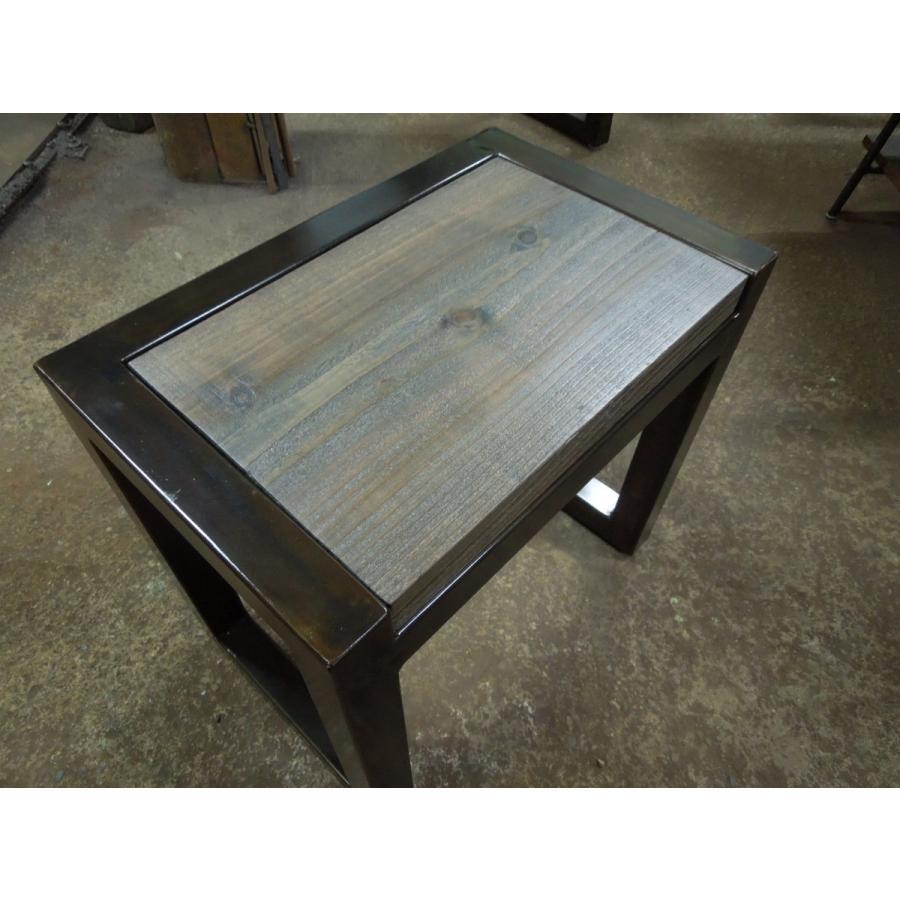 アイアンスツール 椅子 ミニテーブル サイドテーブル ヴィンテージ仕上げ 高40×幅44×奥行28.5 サイズオーダーOK。|zacc|05