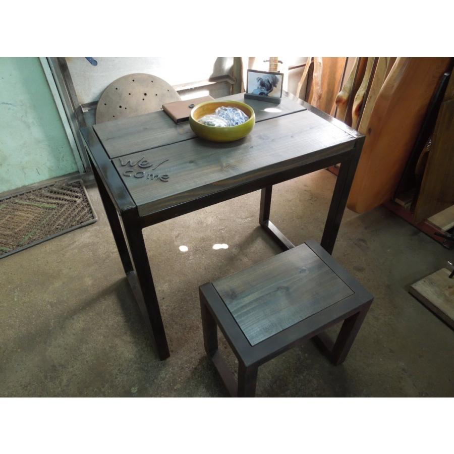アイアン ワークテーブル ビンテージ風仕上げ カスタマイズOK|zacc|10