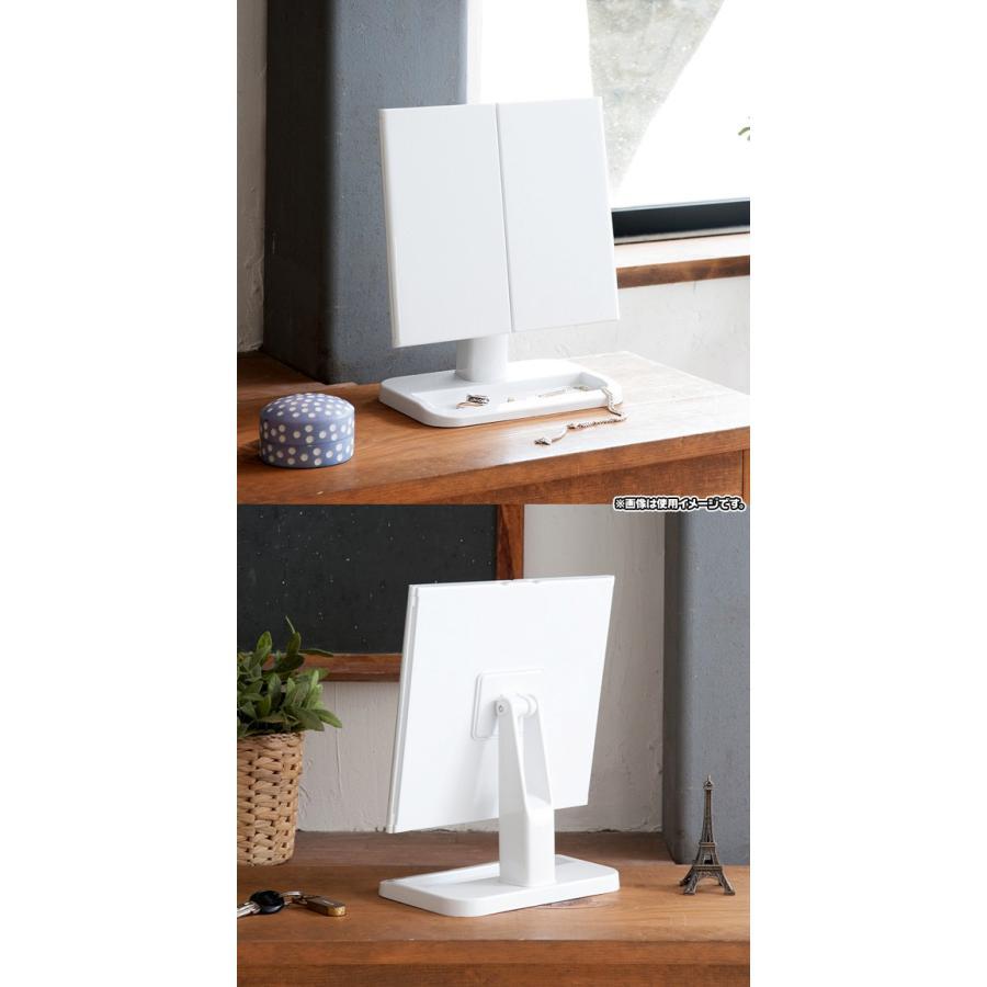 三面鏡 卓上ミラー メイクアップミラー 化粧鏡 化粧ミラー 卓上スタンドミラー 置き鏡 角度調節可能 zak-kagu 03