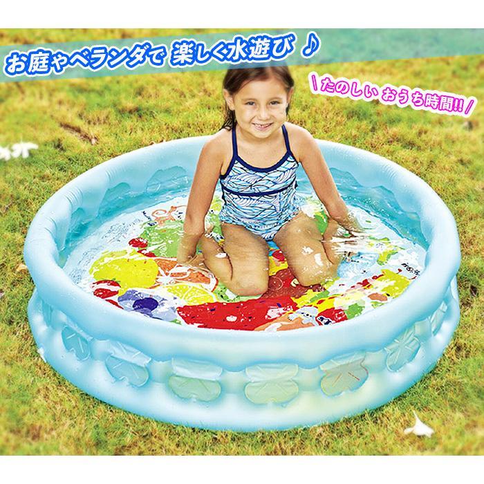 子ども用プール 直径103cm 空気入れ付き 丸型 ビニールプール 家庭用 水遊び エアーポンプ付き かわいい ミニプール 子供 丸い プール 遊び おうち時間|zak-kagu|02