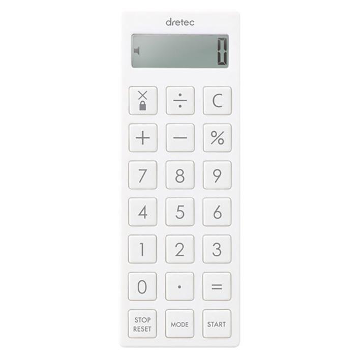 スリム キッチンタイマー ミニ電卓 時計付 誤動作防止キーロック機能搭載 コンパクト 電卓 ネックストラップ付 タイマー アラーム バイブ機能搭載|zak-kagu|05