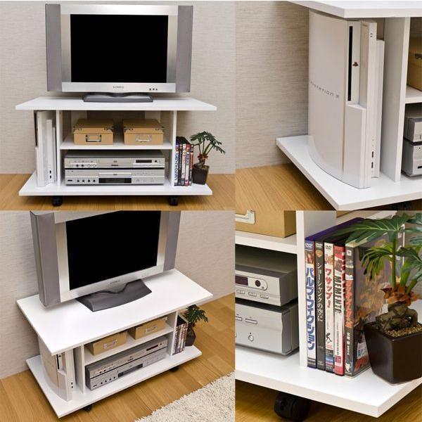 テレビ台 幅80cm テレビボード TV台 TVボード ローボード リビングボード キャスター付 zak-kagu 03