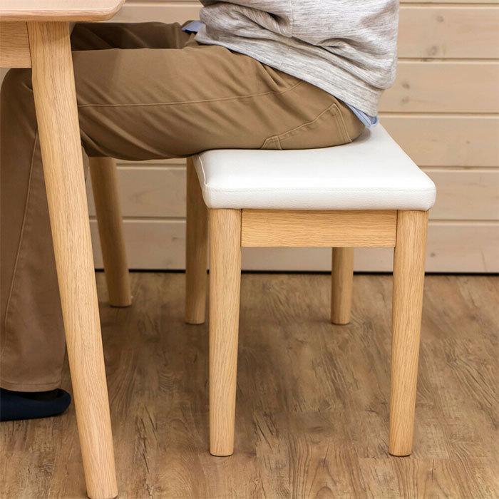 北欧風 ダイニングベンチ 幅86cm ベンチチェア シンプル 食卓ベンチ 食卓椅子 長椅子 ベンチチェアー 天然木製 zak-kagu 02