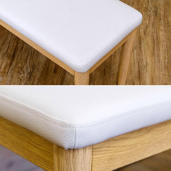 北欧風 ダイニングベンチ 幅86cm ベンチチェア シンプル 食卓ベンチ 食卓椅子 長椅子 ベンチチェアー 天然木製 zak-kagu 04
