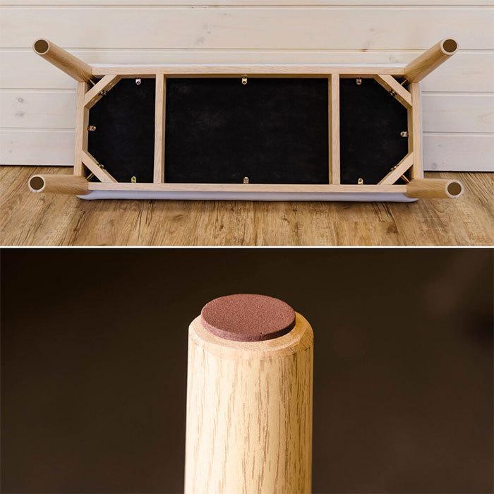 北欧風 ダイニングベンチ 幅86cm ベンチチェア シンプル 食卓ベンチ 食卓椅子 長椅子 ベンチチェアー 天然木製 zak-kagu 05