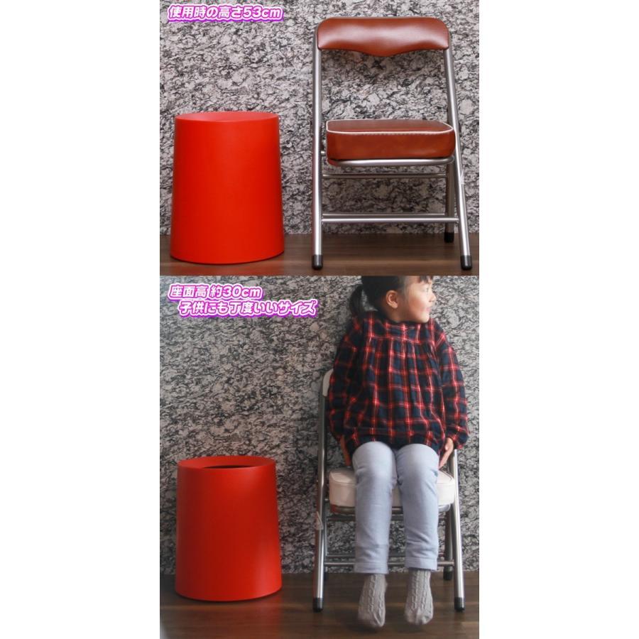 4脚セット!ミニパイプ椅子 携帯 チェア コンパクトチェア 折りたたみ椅子 子供椅子 子ども用チェア 子供用パイプイス 軽量 約2.5kg|zak-kagu|03