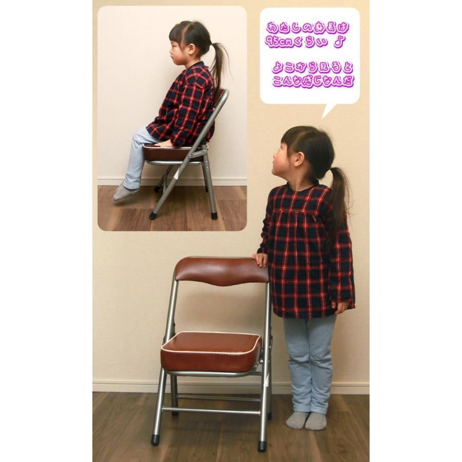 4脚セット!ミニパイプ椅子 携帯 チェア コンパクトチェア 折りたたみ椅子 子供椅子 子ども用チェア 子供用パイプイス 軽量 約2.5kg|zak-kagu|04