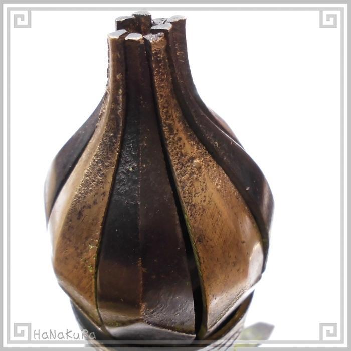 キャンドルホルダー 銅製 金物  632 蓮花 ろうそく立て 回転式 燭台 チベット|zakka-hanakura|05