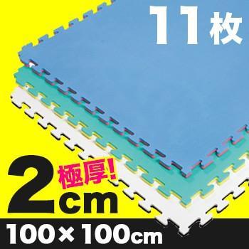 《11枚》リバーシブルジョイントマット2.0 ボディメーカー 100×100×2cm(格闘技/柔道/レスリング/空手/マット/単色) メーカー直送