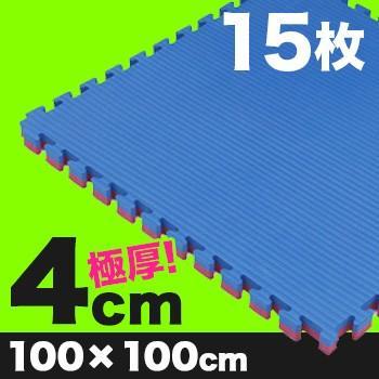《15枚》リバーシブルジョイントマット ボディメーカー 100×100×4cm(格闘技/柔道/レスリング/空手/マット) メーカー直送