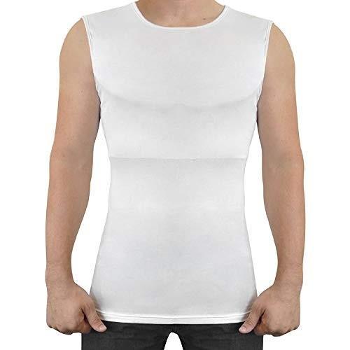 ファンキーボッド Funkybod 着るだけで筋肉 マッチョtシャツ パッド付き 縫い目ゼロ 袖なし 白い M