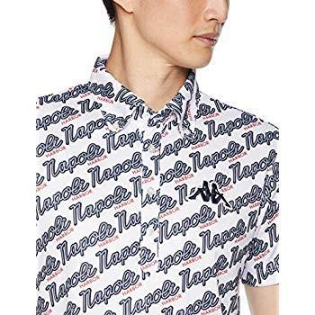 カッパゴルフ ゴルフ ウェア UV 半袖 ボタンダウン シャツ Kappa GOLF メンズ WT1 サイズ L