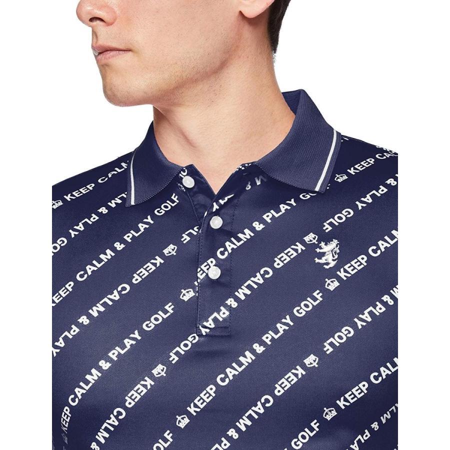 アドミラル ゴルフ ポロシャツ ADMA938、バイアスメッセージ メンズ ADMA938 30NVY 日本 M (日本サイズM相当)