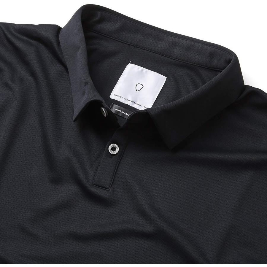 【ラッピング無料】 SHIELDS(シールズ) フットゴルフ シャツ 半袖 TREK & TURF ドライメッシュ ポロシャツ 18-A-P01-02 ブラック, 菓子工房EverGreen a0229127