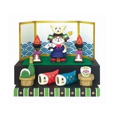 DECOLE concombre 猫将軍 出陣飾りセット|zakkahibinene