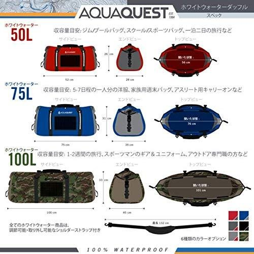 AquaQuest (アクアクエスト) White Water ダッフル - ヘビーデューティー 100% 防水 - ブラック75 L|zakkanoyamato|02