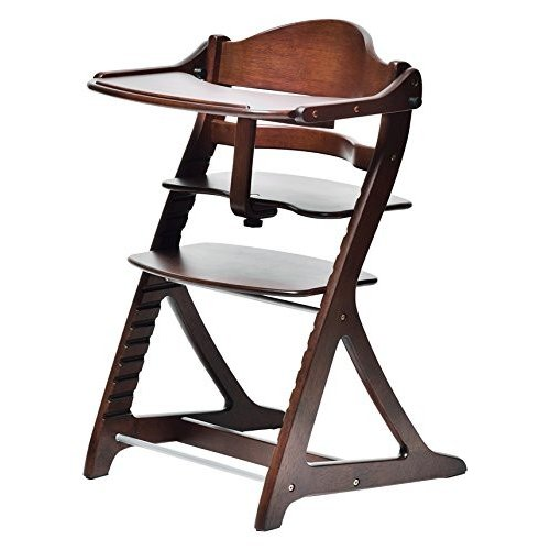 大和屋 すくすくチェアプラス テーブル付 テーブル付 ダークブラウンDB 1503 使いやすく進化し続けるロングセラーのベビー