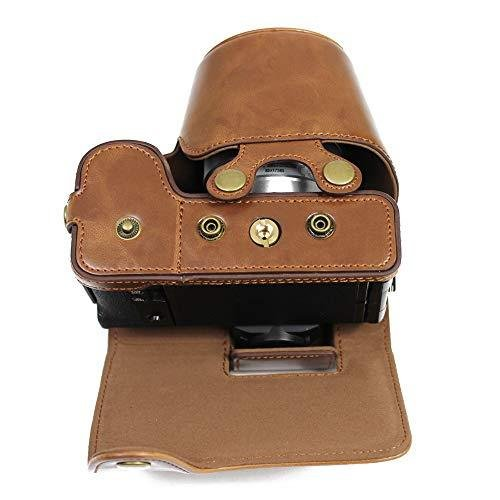 Fujifilm Fuji 富士 PEN X-S10 XS10 カメラケース  KOOWL 対応レンズモデル:XC 15-45mm F3.5-5.6 OIS PZ (コーヒー色)|zakkanoyamato|04