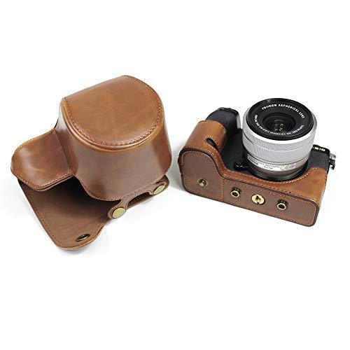 Fujifilm Fuji 富士 PEN X-S10 XS10 カメラケース  KOOWL 対応レンズモデル:XC 15-45mm F3.5-5.6 OIS PZ (コーヒー色)|zakkanoyamato|05
