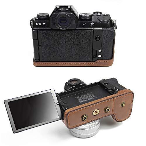 Fujifilm Fuji 富士 PEN X-S10 XS10 カメラケース  KOOWL 対応レンズモデル:XC 15-45mm F3.5-5.6 OIS PZ (コーヒー色)|zakkanoyamato|06