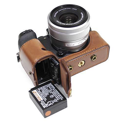 Fujifilm Fuji 富士 PEN X-S10 XS10 カメラケース  KOOWL 対応レンズモデル:XC 15-45mm F3.5-5.6 OIS PZ (コーヒー色)|zakkanoyamato|07