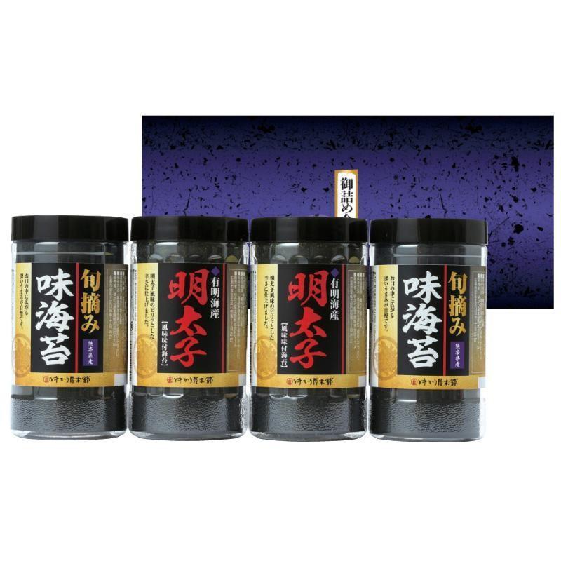 ゆかり屋本舗 有明海産 明太子風味・旬摘み味海苔セット YMI-20 7050-037