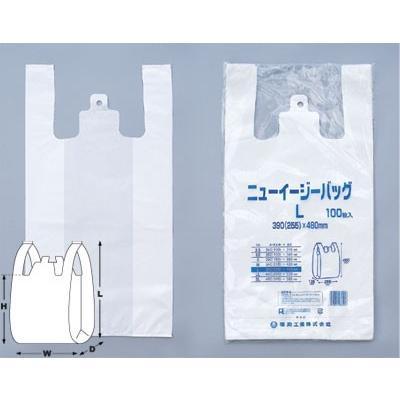ササガワ(タカ印) レジ袋 ニューイージーバッグ LL 100枚×1セット|zakkaya3