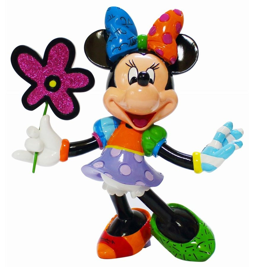 送料無料 Disney Britto Minnie with Flowers ミニーマウス ディズニー フィギュア 置物 人形 フィギア オブジェ