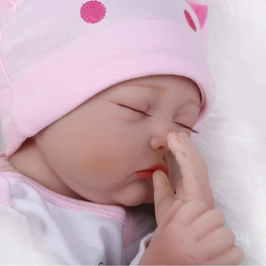 NPKDOLL Realistic Reborn Baby Dolls Girl Sleeping Baby 22 Inches Soft