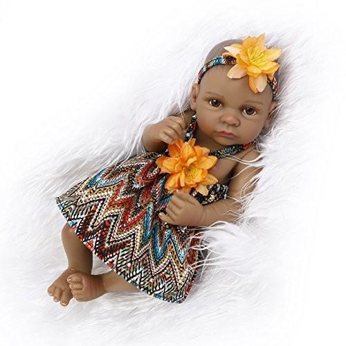 iCradle Realistic Looking Mini 黒 Indian Lifelike Reborn Baby Doll