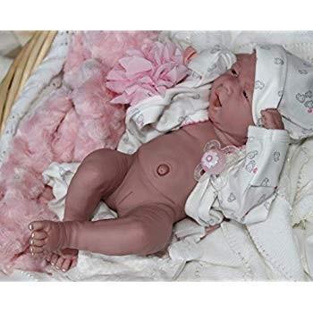 AWW I'm New Baby Girl Berenguer Lifelike Newborn Reborn Pacifier Doll