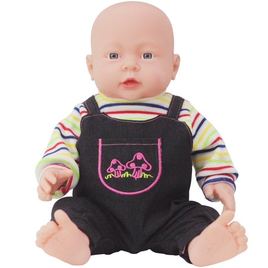 Rifi 16 Inches Nontoxic High Simulation Naked Latex Rotocast Baby Doll