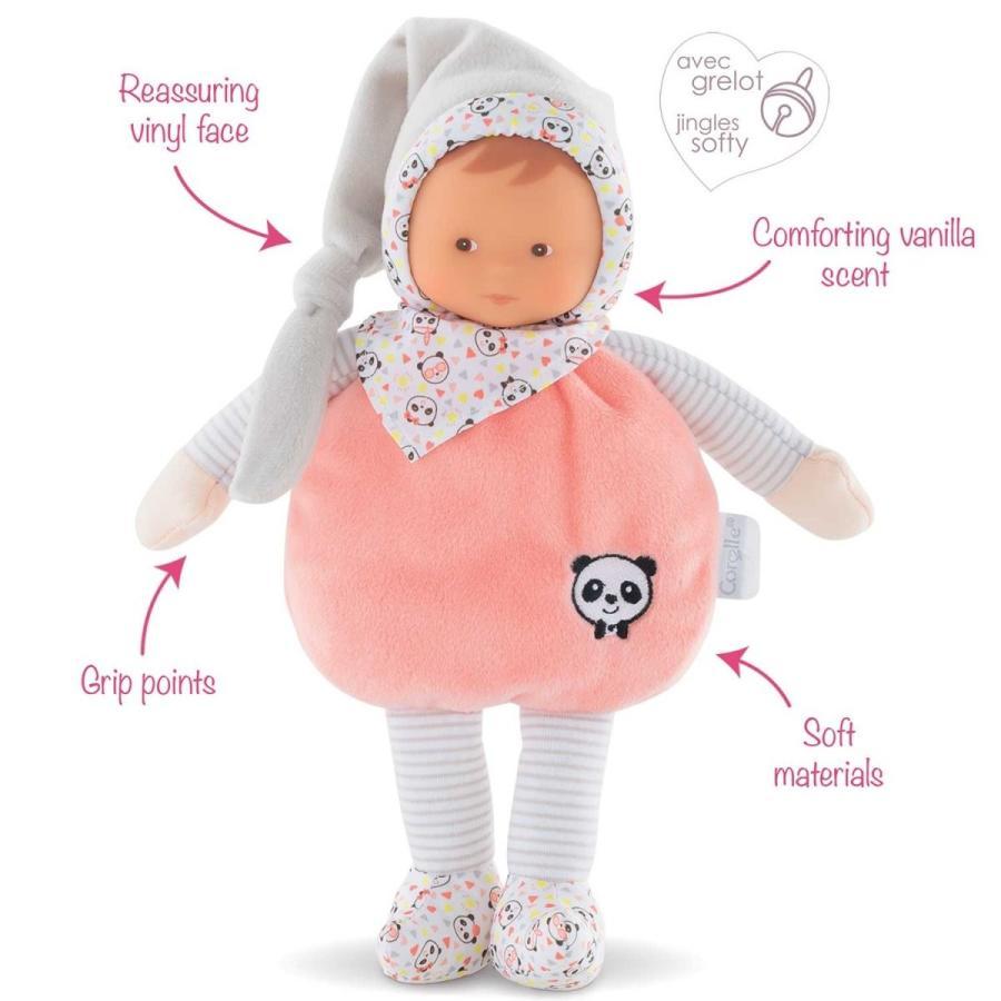 Corolle mon doudou Elf Happy Panda Toy Baby Doll, ピンク