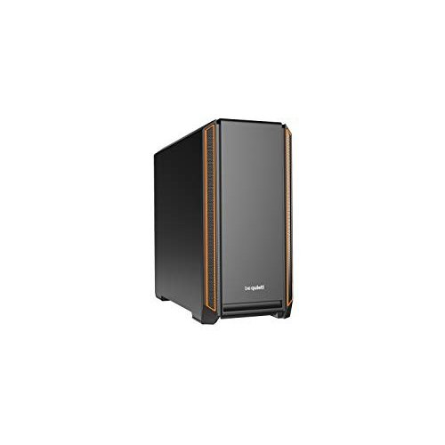 be quiet Silent Base 601 Orange Mid-Tower ATX Computer Case, two 140mm