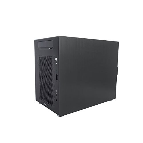 Computer Case Mini Tower Black Aluminum by Integer Computers Model: Co
