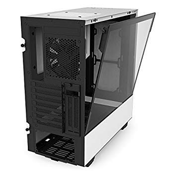 NZXT H500i White and Black Mid Tower PC Case with 2 AER F Fans, Temper