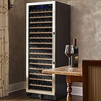 N'FINITY PRO L RED Wine Cellar Right Hinge - Stainless Steel Door