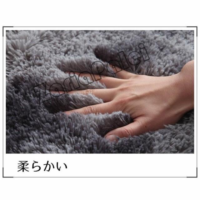 ラグ カーペット 絨毯 オールシーズン 洗える 長方形 滑り止め付き じゅうたん 現代 北欧風ins風 洗濯ok 厚み ふわふわ100*200cm|zariapalei|16