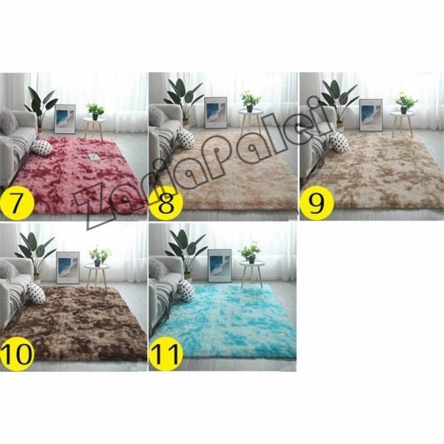 ラグ カーペット 絨毯 オールシーズン 洗える 長方形 滑り止め付き じゅうたん 現代 北欧風ins風 洗濯ok 厚み ふわふわ100*200cm|zariapalei|07