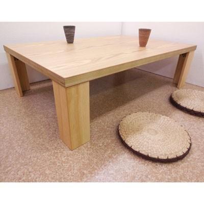 【座卓】超軽量タモ・ナチュラル120折りたたみテーブル|zataku|02