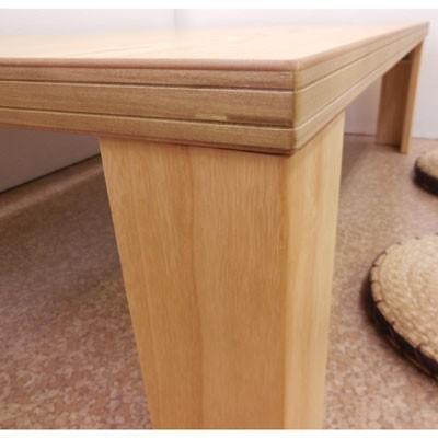 【座卓】超軽量タモ・ナチュラル120折りたたみテーブル|zataku|05