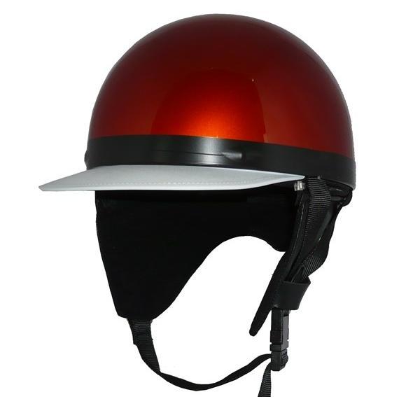 ZK-180 コルク半風半帽(メタリックオレンジ)耳当て脱着可 SG公認 ...