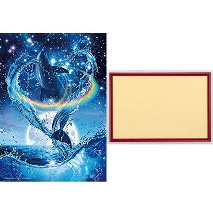 500ピース ジグソーパズル めざせ. パズルの達人 ラッセン プレシャス ラブ From Art & Soul 光るパズル シャインレッド