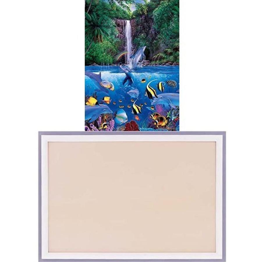 1000ピース ジグソーパズル ラッセン エターナル レインボー シーIV ベリースモールピース 「光るパズル」 38x53cm