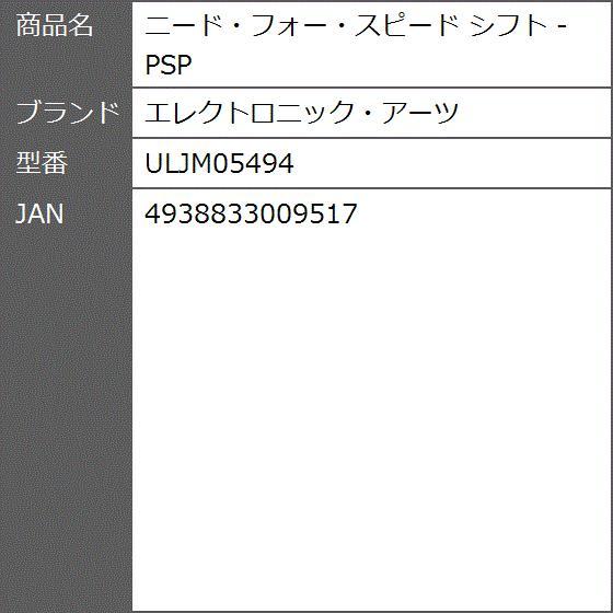 ニード・フォー・スピード シフト - ULJM05494|zebrand-shop|04